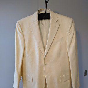 Geoffrey Beene Cream Silk Wool Blazer